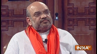BJP President Amit Shah in Aap Ki Adalat 2017 at Chunav Manch