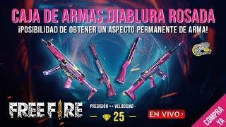 🔴 Nueva Caja de Armas Diablura Rosada - Free Fire - Nuevos Niveles de Miembros
