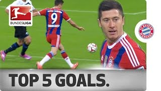 Robert Lewandowski - Top 5 Goals 2014/15
