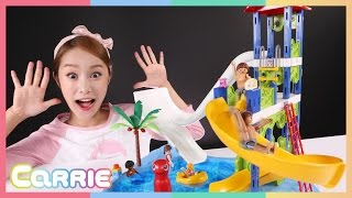 凱利的Playmobil 滑水道玩具遊戲     凱利和玩具朋友們 CarrieAndToys