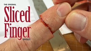 Original Sliced Finger SFX makeup tutorial