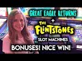 GREAT RUN! Flintstones Slot Machine! BONUSES!!