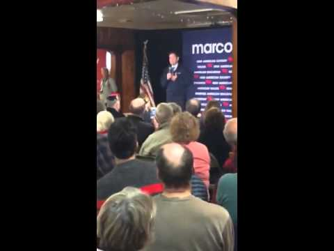 New Hampshire voter #dare2ask Rubio if free enterprise can solve climate change