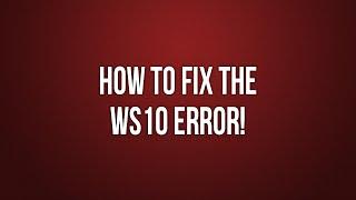 GTA 4 How to fix WS10 error