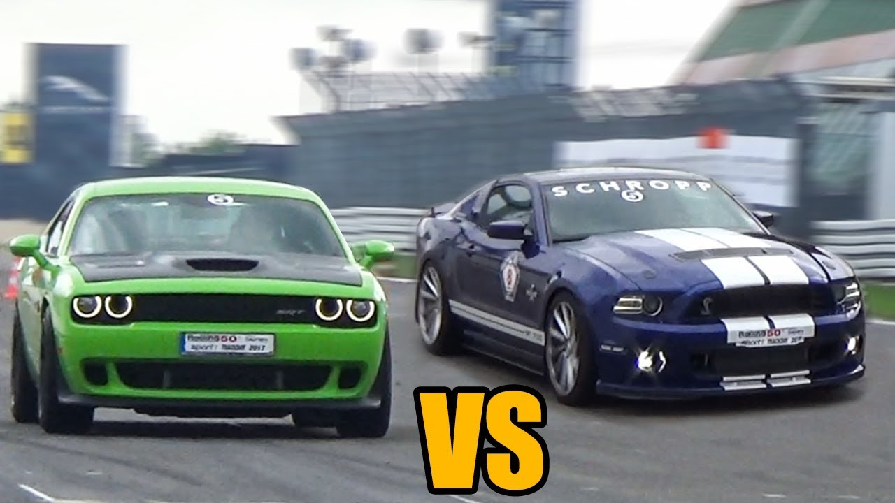 Dodge Challenger SRT vs Mustang GT500 - DRAG RACE! - YouTube