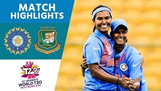 India Comfortably Win Opening Match | India vs Bangladesh | ICC Women's #WT20 2018 - Highlights