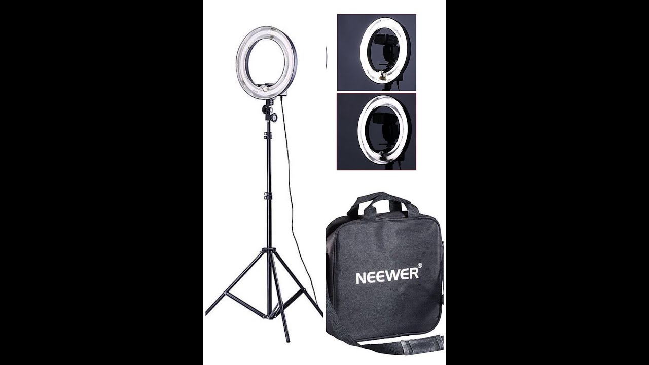 ring light stand and carrying bag youtube. Black Bedroom Furniture Sets. Home Design Ideas