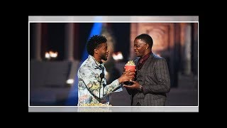 Black Panther's Chadwick Boseman hands MTV Movie Award win over to real-life superhero