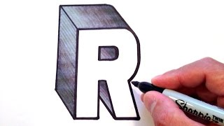 How to Draw the Letter R in 3D