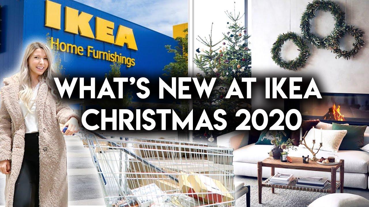Christmas At Ike Hall 2021 Ikea Shop With Me Christmas 2020 New Holiday Decor Youtube