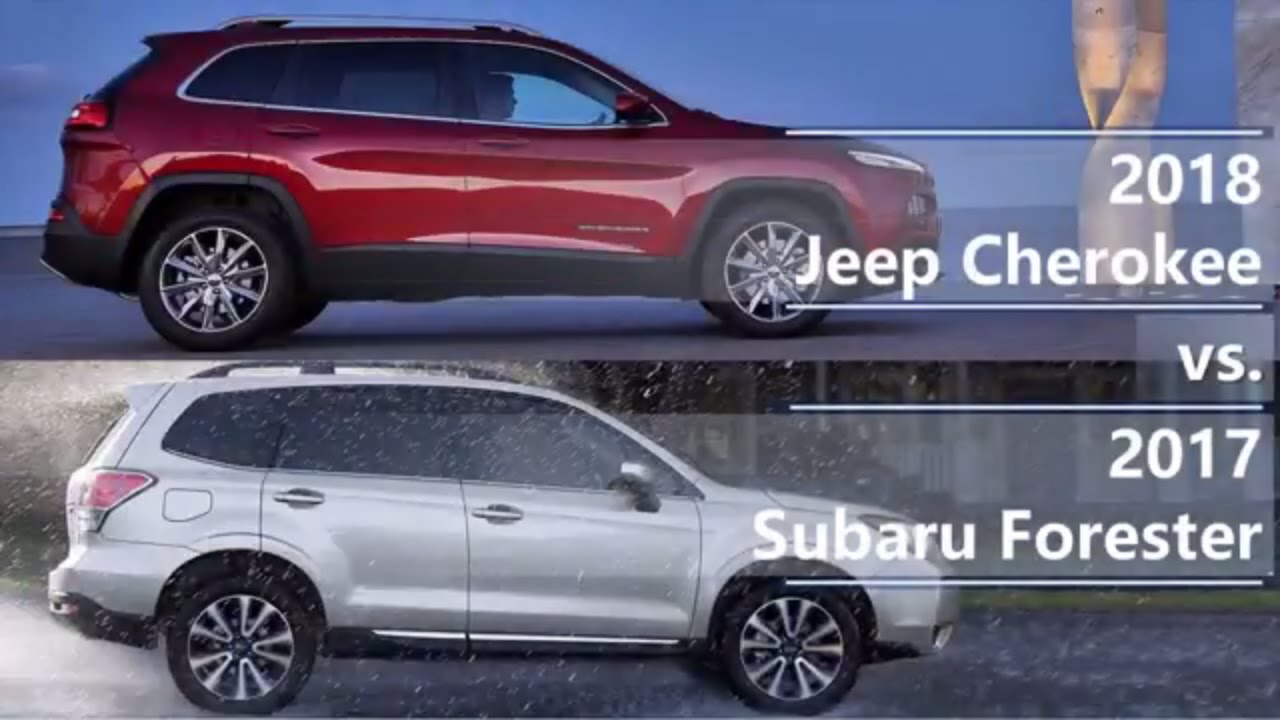 Subaru Outback Vs Forester >> 2018 Jeep Cherokee vs 2017 Subaru Forester (technical comparison) - YouTube
