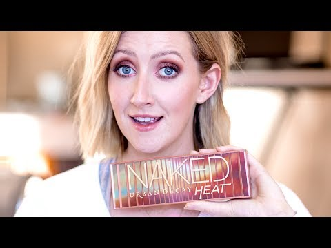 VERY CHATTY First Impressions Makeup Tutorial  UD NAKED HEAT  Sharon Farrell