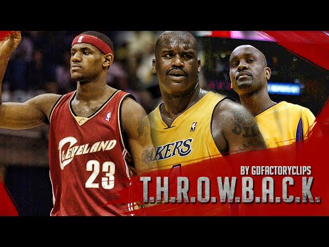 Prime Lakers Shaquille O'Neal vs. Rookie LeBron James - Lakers vs. Cavs, 03-04 Highlights