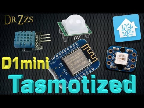Tasmota + D1mini (or Sonoff) - Temp & Humidity, ws2812 LEDs, and Motion Detection