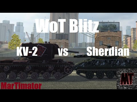 KV-2 Vs Sheridan: Face The Derp #30 | WoT Blitz