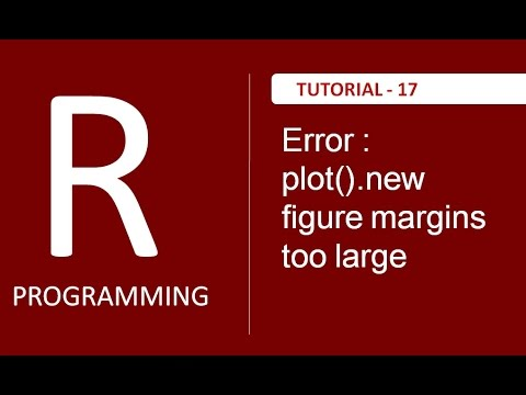 "How to resolve ""Error in plot.new() : figure margins too large"" in RStudio : Tutorial # 17"