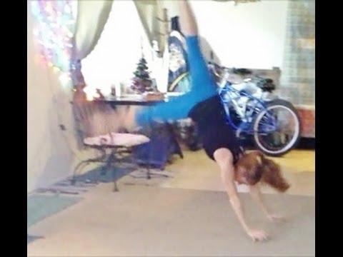 how to do a handstand pop with coach meggin gymnastics
