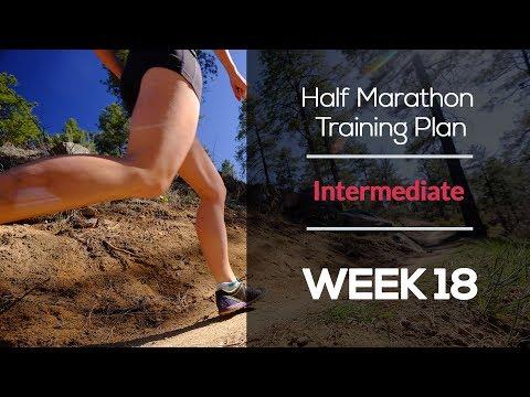 Intermediate Half Marathon Training Plan (WEEK 18)