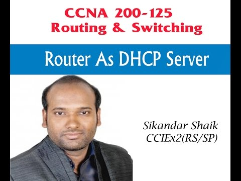Router as DHCP server - Video By Sikandar Shaik || Dual CCIE (RS/SP) # 35012
