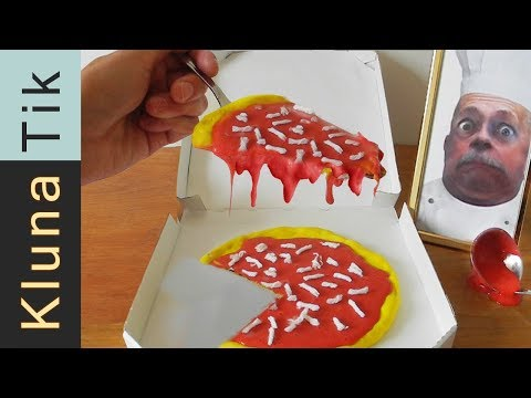 Eating SLIME PIZZA!! Kluna Tik Dinner #72 | ASMR eating sounds no talk
