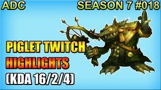 Liquid Piglet - Twitch vs Ezreal - ADC - Highlights (Nov 17, 2016) | 피글렛 트위치