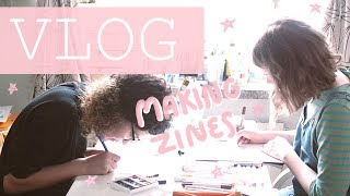Studio Vlog: Drawing zines for the whole weekend!