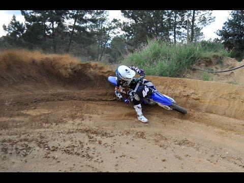 Extreme motocross in Santa Coloma de Farners, Spain, on Yamaha YZ-250