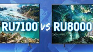 Samsung 2019 TV Comparison: RU8000 Series vs RU7100 Series