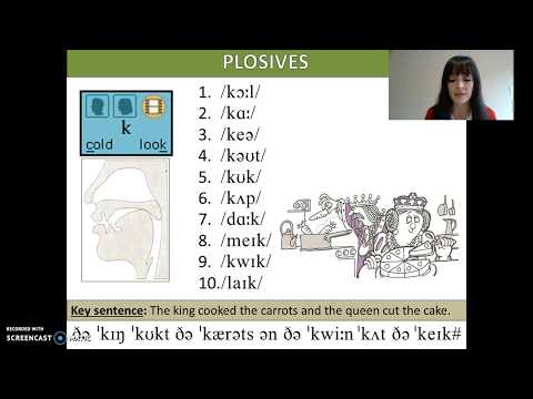ENGLISH CONSONANTS - Velar Plosives