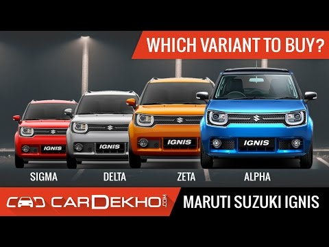 Which Maruti Ignis Variant Should You Buy? - CarDekho.com