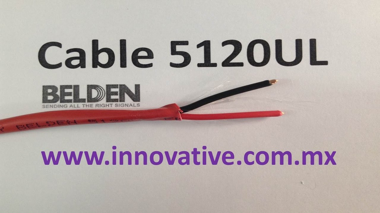 Cable 5120UL Belden - YouTube