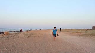 Каспийское море.. На Закате ( Махачкала)