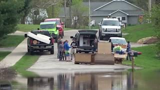 The Cedar River Floods Gladwin, Michigan. The Chapel Dam Failed