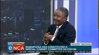 Discussion   Special Cabinet Committee formed for Eskom