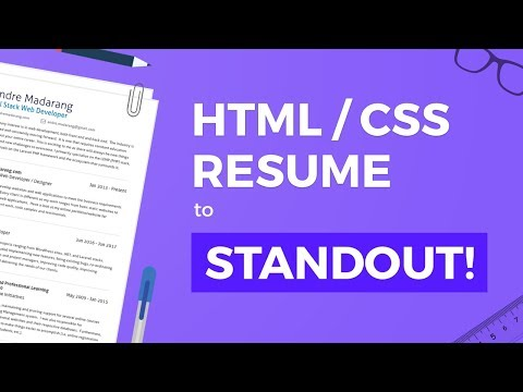 HTML/CSS Resume To Help You Stand Out!