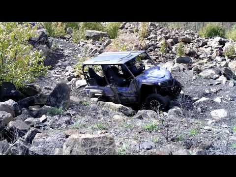 Yamaha Wolverine X4 and Honda Pioneer 500 Conquer The Boulder Field at Rock Run with Ease