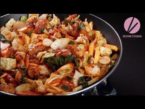 Chicken and Kimchi-Kale Stir-Fry
