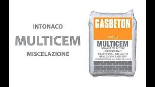 Posa GASBETON - Intonacatura con MULTICEM
