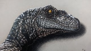Drawing Velociraptor - Jurassic world | Realistic Drawing