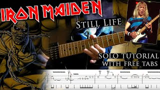 Iron Maiden - Still Life Dave Murray's intro solo lesson (with tablatures and backing tracks)