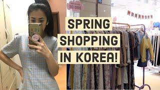Seoul Spring Underground Shopping~ Small clothing haul! +Korean makeup haul | Life in Korea VLOG