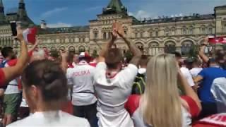FIFA world cup 2018 RUSSIA   Polish fans on Red Square. (Polscy fani)