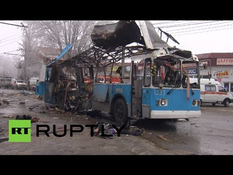 GRAPHIC: Aftermath of deadly blast on trolley bus in Volgograd