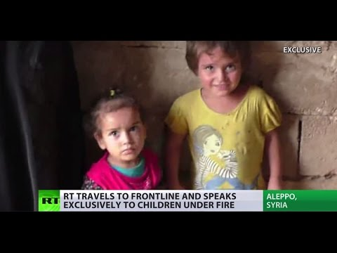 'Childhood under fire': Kids living on the frontline in Aleppo