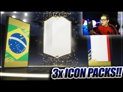 FIFA 19: OMG ICON PACKLUCK!! 3x BASIC ICON SBC PACK OPENING 😱😱 thumbnail