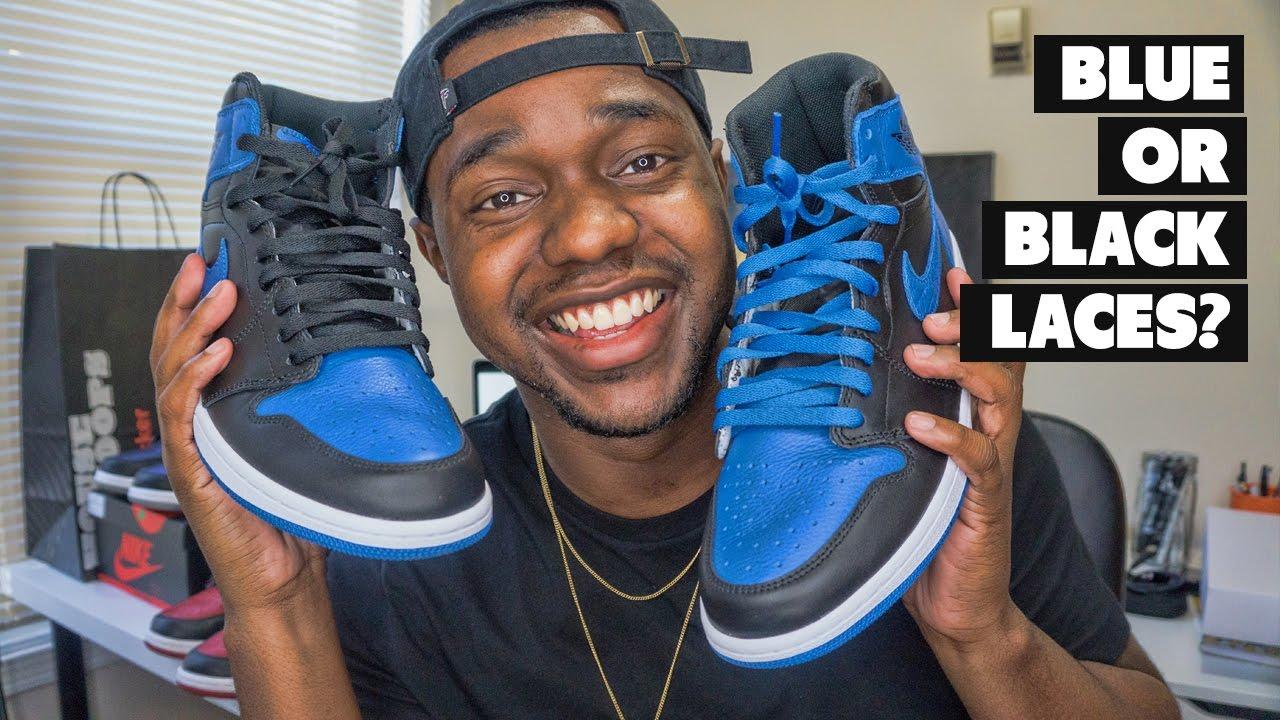 Blue Or Black Laces Air Jordan 1 Royal 2017 Review On Foot