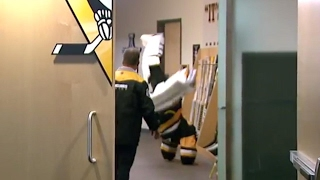 Another reason to love Fleury: he can cartwheel in goalie equipment