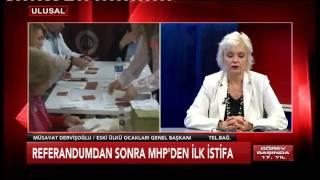 MHP'den istifa eden Müsavat Dervişoğlu Ulusal Kanal'da konuştu