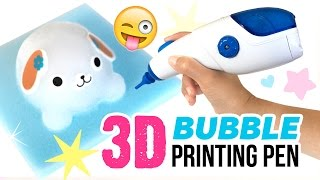 3D Printing Pen With BUBBLES!!! Awamoko 3D Pen DIY Tutorial