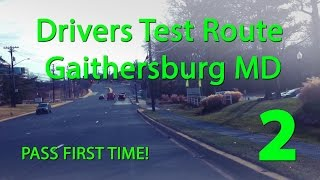 Gaithersburg Maryland MVA Drivers Test Route 2